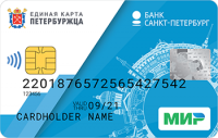 Банк Санкт-Петербург Единая карта петербуржца