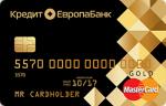 Кредит Европа Банк CASH CARD